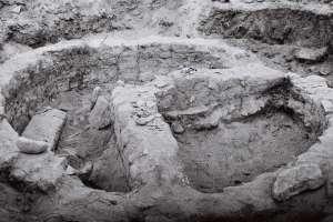 Fotos das primeiras escavacións do Castro de Cameixa, en Boborás / Concello de Boborás