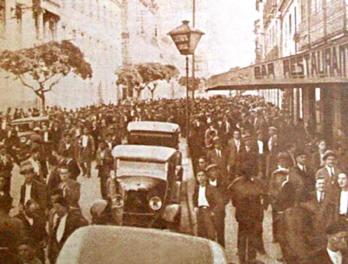 Folga xeral en Ourense no 1931