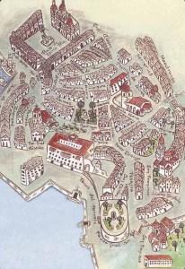 Recreación da cidade vella da Coruña / ciudadvieja.com