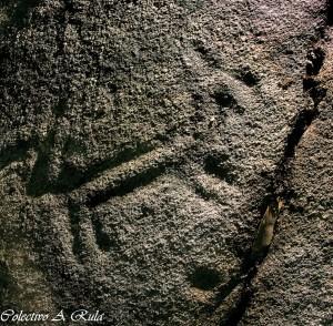 Representación dun cabalo na Pedra da Loba / A Rula