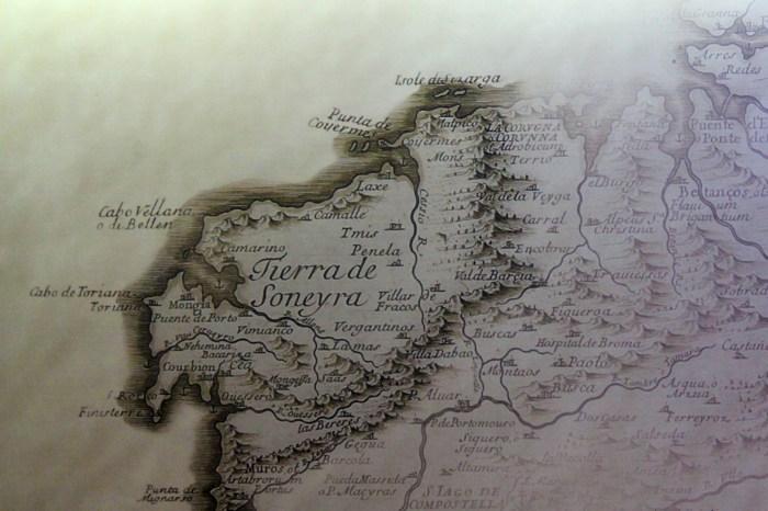 Mapa antigo coa Terra de Soneira