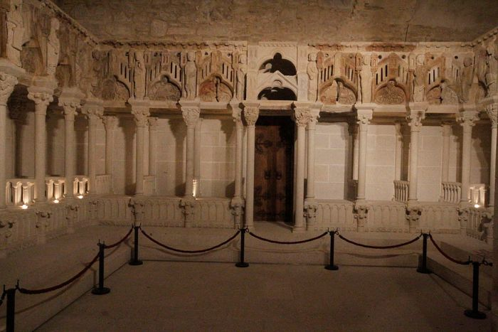 Reconstrución do coro pétreo da Catedral de Santiago / galipedia.gal