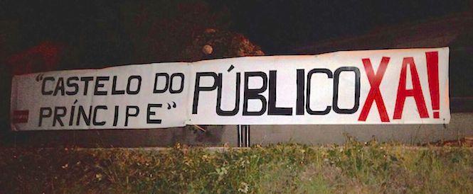 """Pancartas piden a """"renacionalización"""" do Casteloo do Príncipe, en Cee / QPC"""