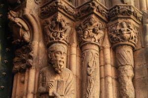 Detalle románico da fachada da catedral de Ourense / Fundación Santa María a Real do Patrimonio Histórico