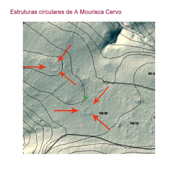 Situación do círculo lítico da Mourisca, en Cervo / Mariña Patrimonio