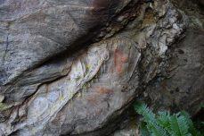 Pintura aparecida nunha cova en Baleira / Mariña Patrimonio
