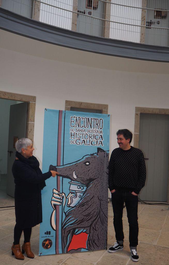 Presentación en Lugo do I Encontro de Banda Deseñada Histórica de Galicia con Manel Cráneo e Carme Basadre / lugo.gal