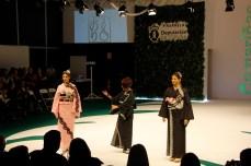Deseño de Noriko na Mostra de 2o19 / foto Concello de Camariñas