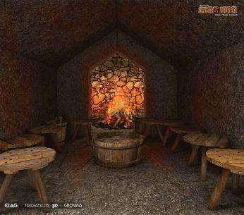 Sauna castrexa xa en 3D visión preliminar / foto Lanóbrigan