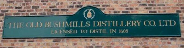 Primera destilería con licencia 1608 Bushmills