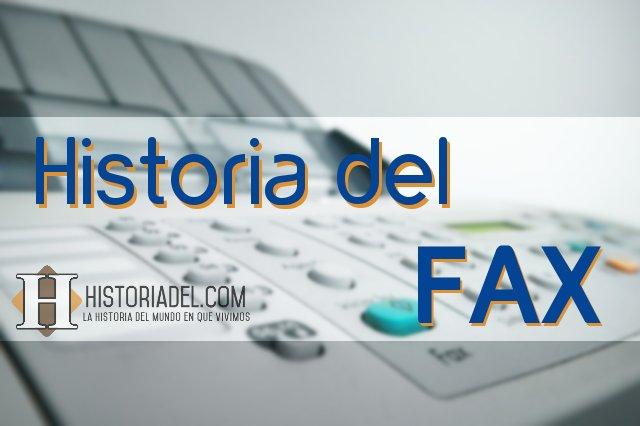 Historia del Fax Portada