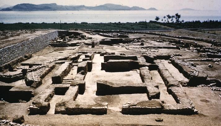 Vista parcial del yacimiento arqueológico de la ciudad de Lerna, a donde llegarían después los pueblos indoeuropeos