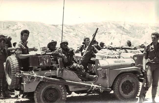 Soldados del ejército israelí durante la Guerra de los Seis Días