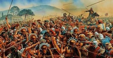 Ilustración sobre el momento de la carga final del general Mardonio