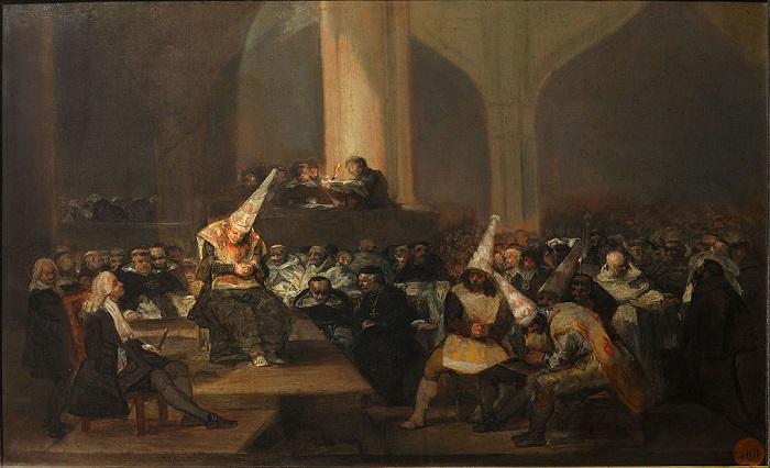 Auto de Fe de la Inquisición, de Francisco de Goya 1812-1819. Uno similar sufrió Eleno de Céspedes