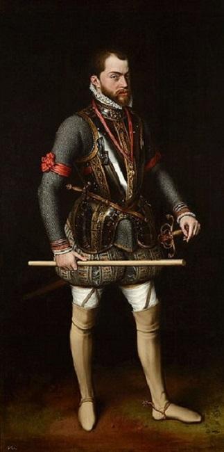 Retrato de Felipe II hecho por Antonio Moro