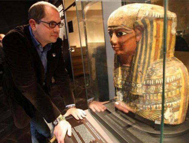 Nacho Ares en el Museo Egipcio de Barcelona