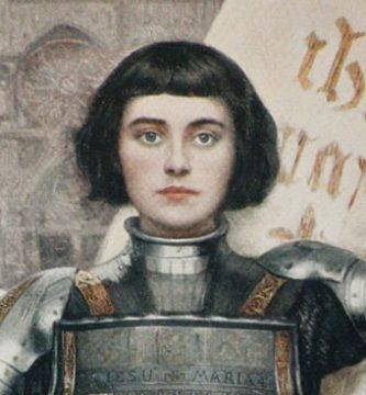llustración que representa a Juana de Arco