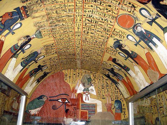 Escritura jeroglífica egipcia de la tumba de Pashedu Egypte eternelle