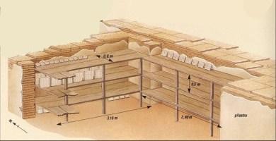 Reconstrucción del aspecto y medidas de las estanterías de los archivos de Ebla