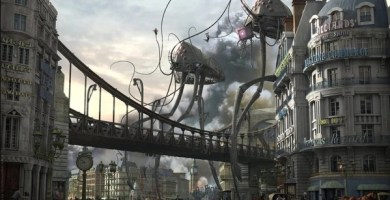 Naves alienígenas de la Guerra de los Mundos, obra maestra de H.G. Wells
