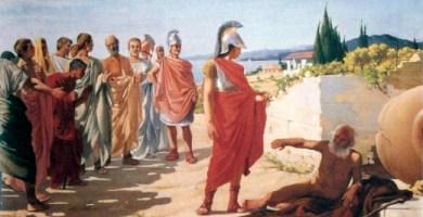 Alejandro Magno y Diógenes, obra de Paride Pascucci