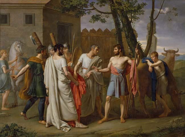 Cincinato abandona el arado para ser dictador en el cursus honorum
