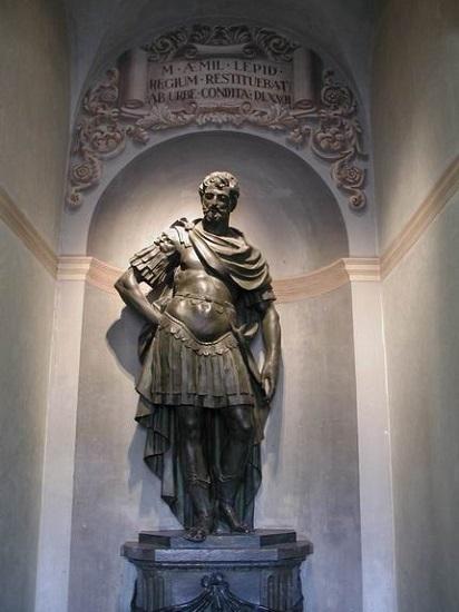 Estatua de Marco Emilio Lépido, político romano nombrado censor en el 179 a.C.