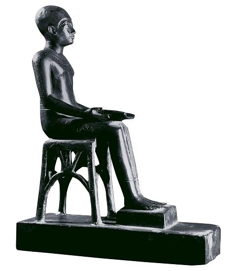 Una de las muchas estatuillas de Imhotep