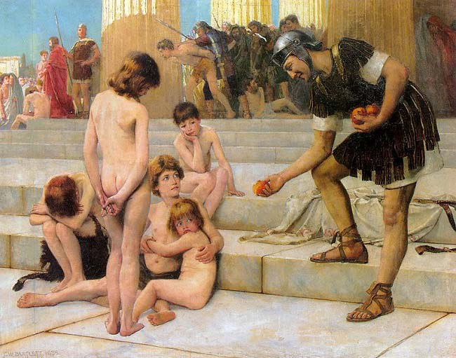 Obra del siglo XIX en la que se recrea la esclavitud en la antigua Roma, el escalón más bajo de la sociedad romana