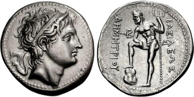 Tetradracma de la época de Demetrio Poliorcetes, cuñado de Piro de Epirro, como rey de Macedonia