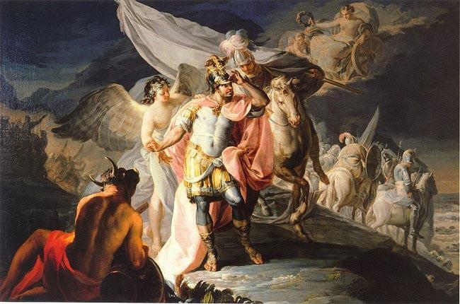 Aníbal Barca vencedor contemplando por primera vez Italia desde los Alpes, obra de Francisco de Goya realizada en 1770