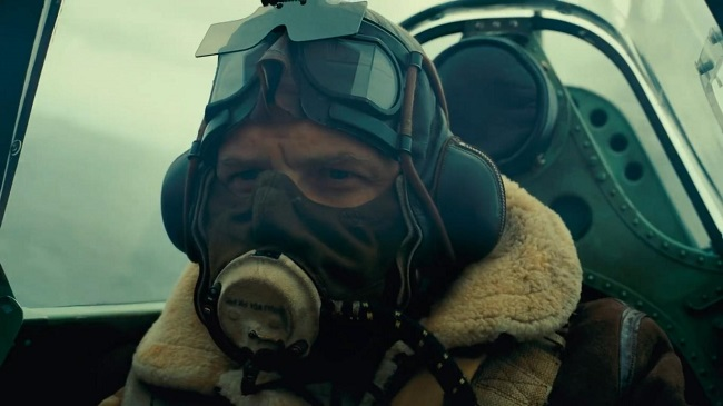 El piloto Farrier, interpretado por Tom Hardy en Dunkerque