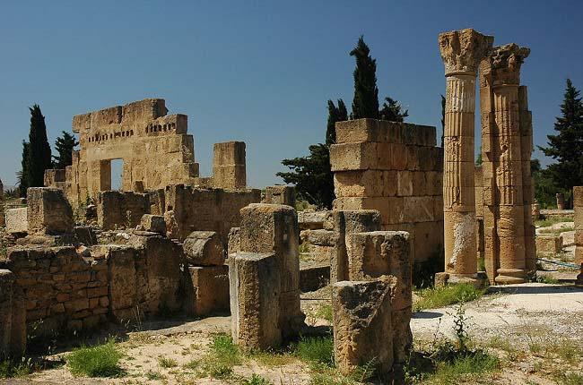 Parte del yacimiento arqueológico de la ciudad de Útica en la actualidad, clave en la invasión romana de África