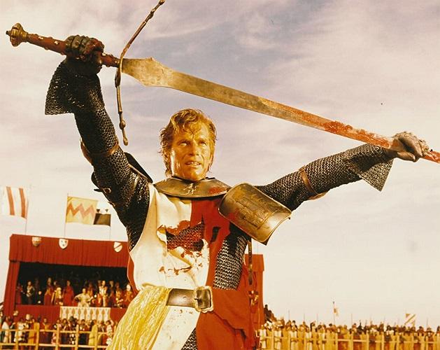 """El actor Charlton Heston interpretando al héroe castillano en """"El Cid Campeador"""", película dirigida por el director Anthony Mann en 1961"""