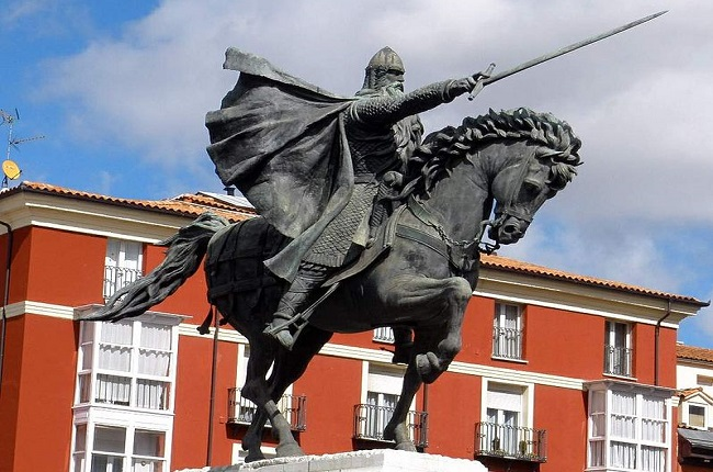 Monumento ecuestre dedicado al Cid Campeador en Burgos