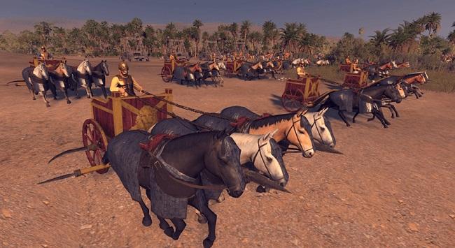 Ilustración que recrea los carros de guerra usados en el reino del Ponto