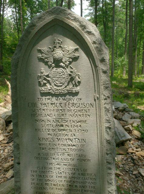 The gravestone of Patrick Ferguson
