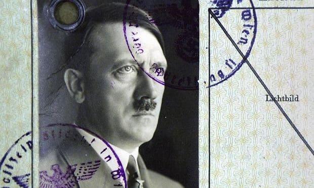 """Adolf Hitlers Meldezettel vom 21. August 1909, diesmal als """"Schriftsteller"""", in die Sechshauserstrasse 56, 2. Stock, Zimmer 21, bei Frau Antonie Oberlechner, im XIV. Distrikt"""