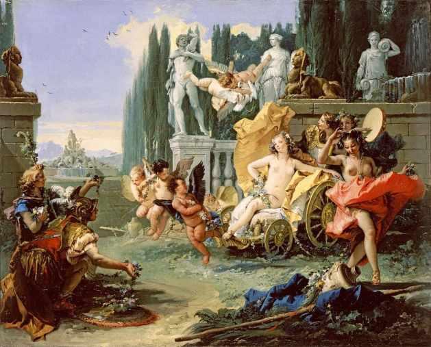 Einzug der Venus im Garten von Lucullus