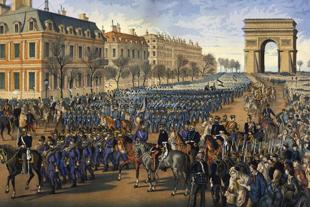 Siegesparade durch Paris am 1. März 1871