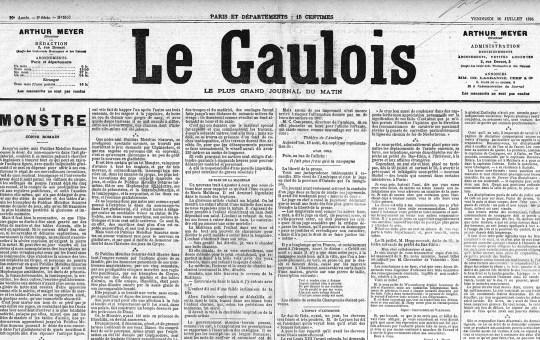 Derubati, L'omnibus de Palerme – Le Gaulois 1895
