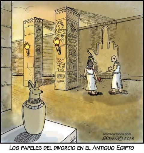 Papeles del divorcio antiguo Egipto