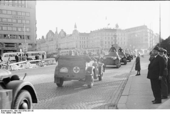Tropas alemanas entran en Oslo