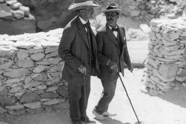 Lord Carnarvon y Howard Carter