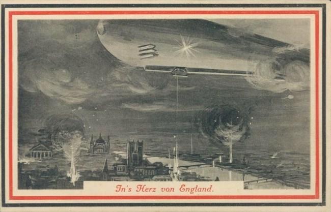 German-Zeppelin-over-London