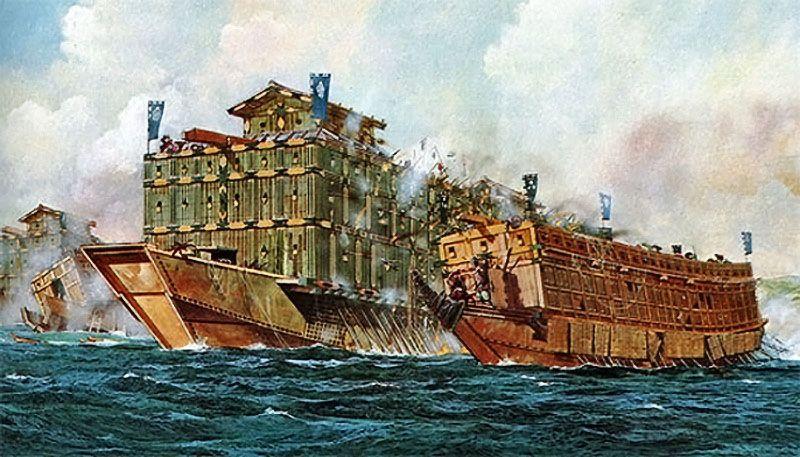 La batalla naval más grande de la historia... ahora sería terrestre