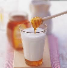 leche con miel