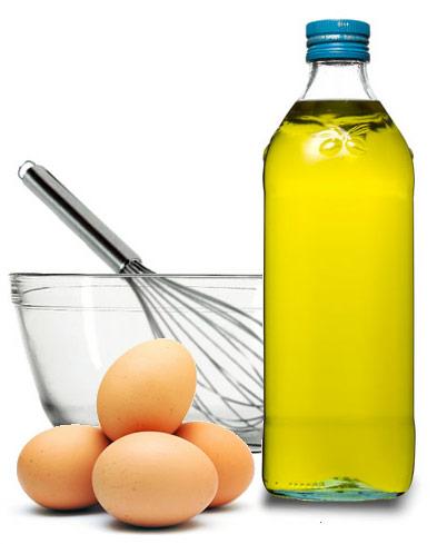 aceite de oliva y huevo