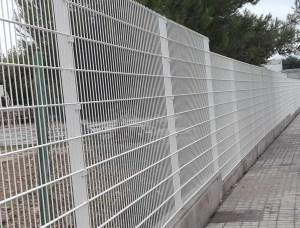 Verja de panel electrosoldado de doble hilo